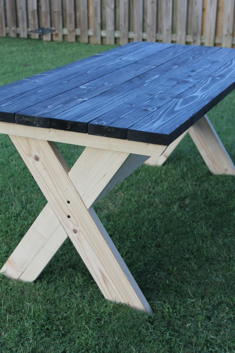 Marvelous How To Build A Farmhouse Picnic Table Dailytribune Chair Design For Home Dailytribuneorg