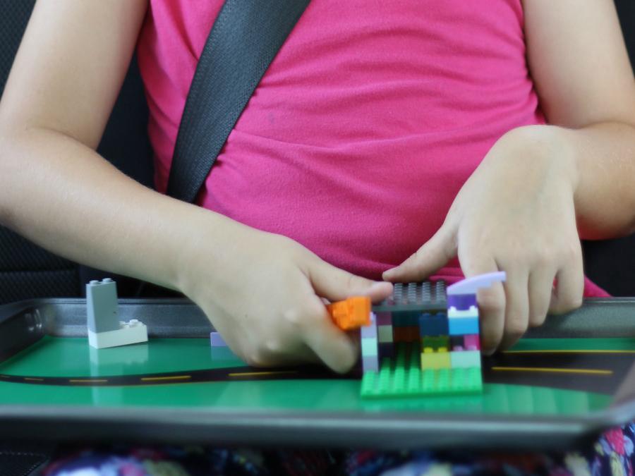 cookie sheet car ride lego desk pink shirt