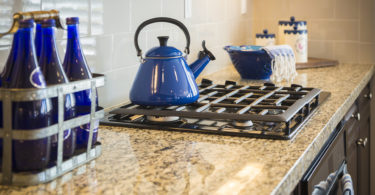 blue pot kitchen counter stove top - cooking without a stove tips