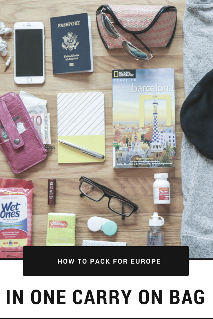 Life Storage - How to Pack for Europe in a Carry-On Bag - Pin