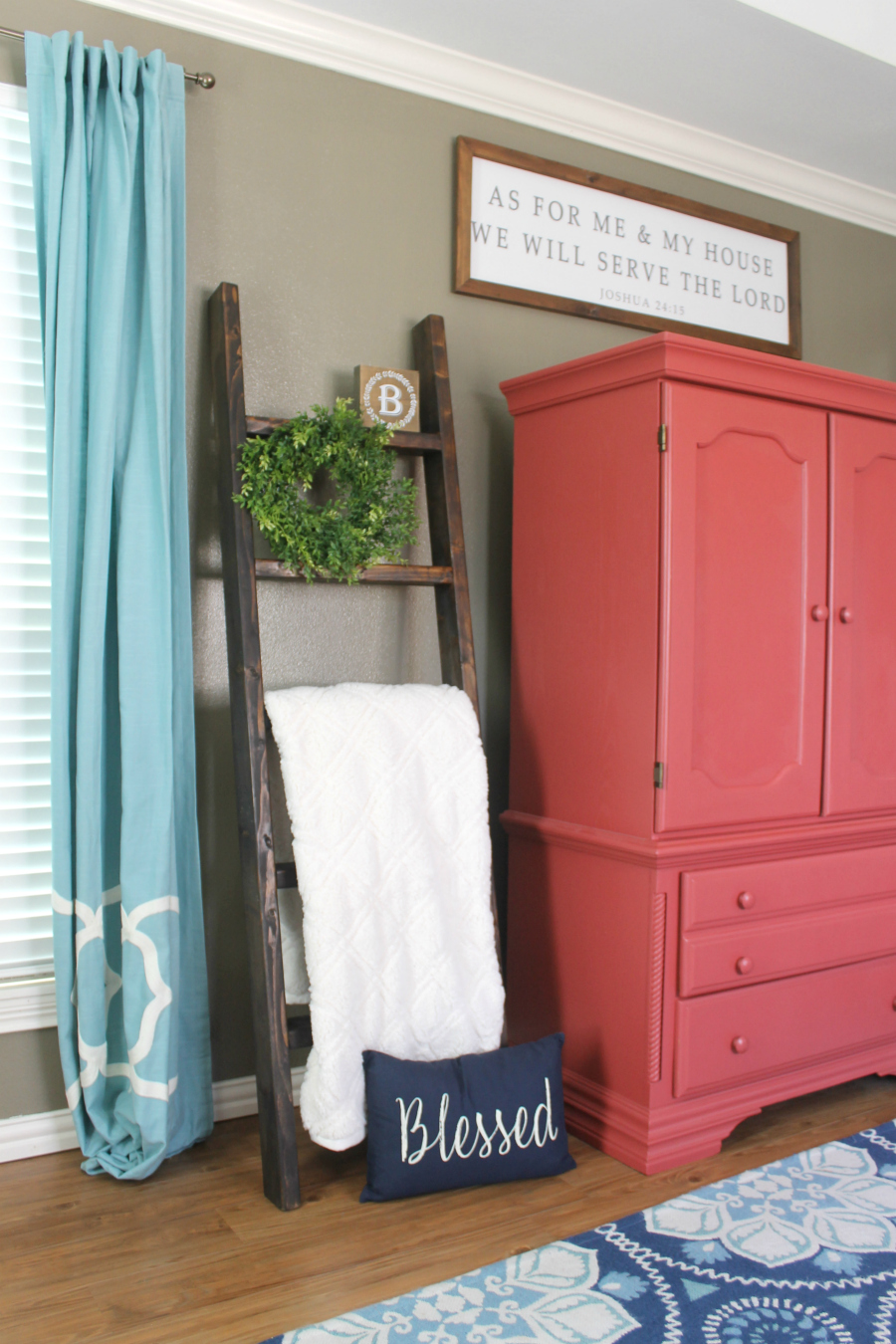 diy blanket ladder -farmhouse - living room