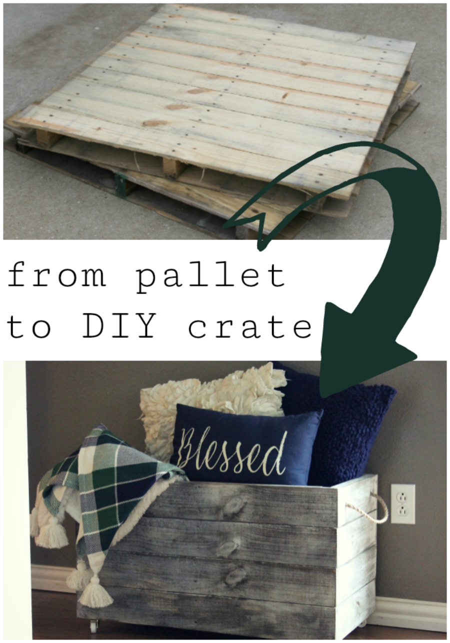 how to make a diy wooden crate out of pallet wood