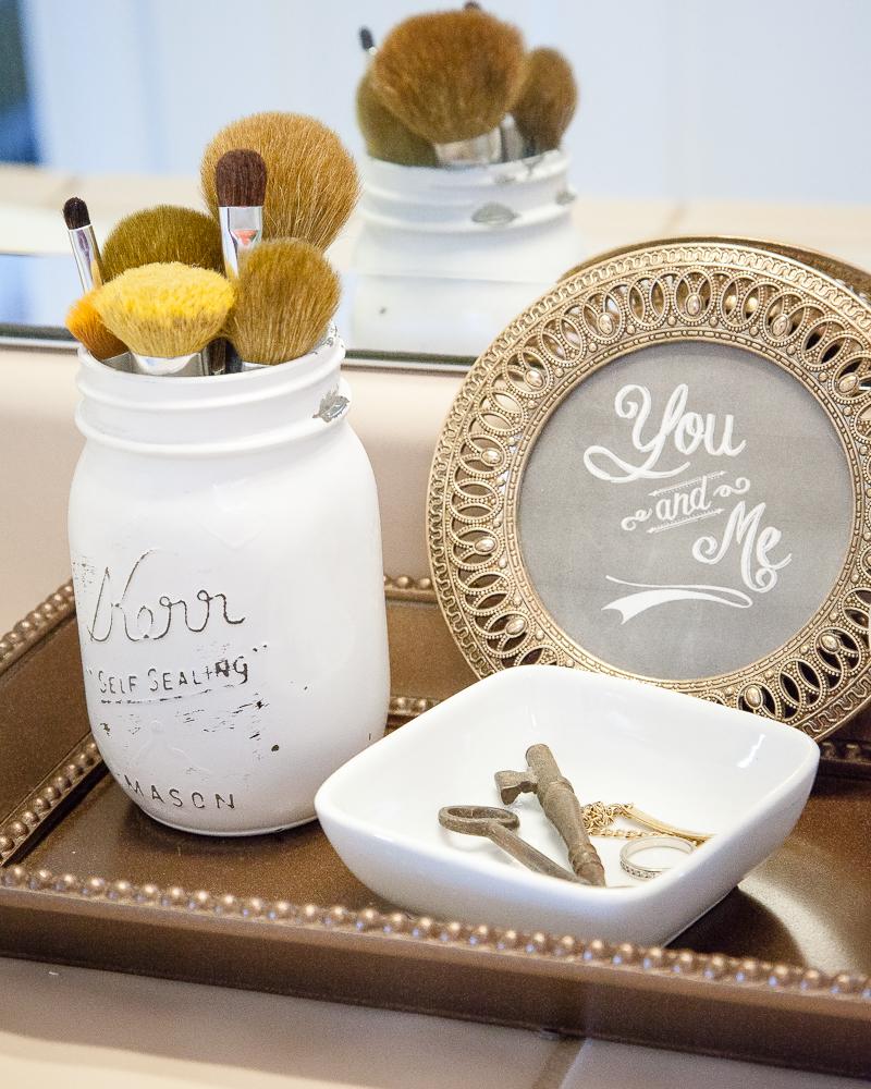 Mason Jars - Bathroom Storage Ideas for Small Items