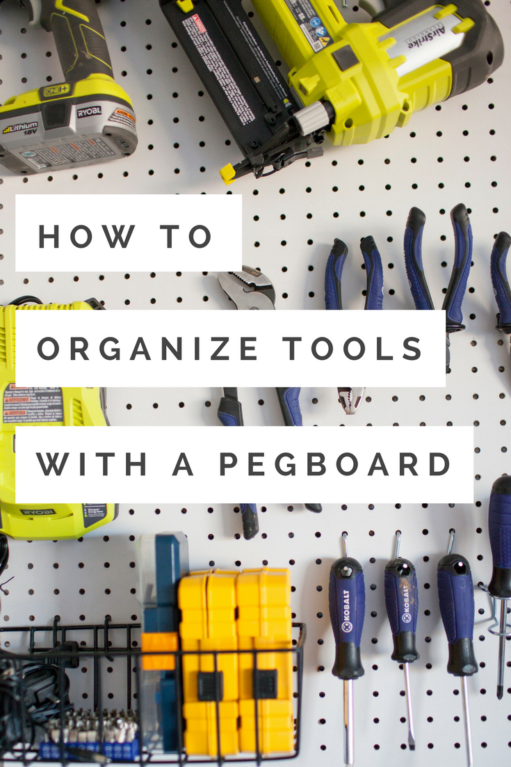 how to organize garage tool ideas | How to Organize Tools with a Garage Pegboard - Life ...