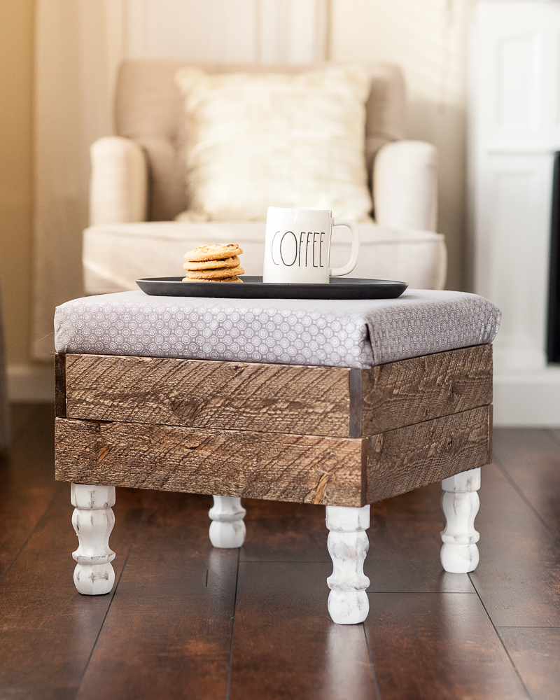 pin for DIY storage ottoman farmhouse style made of wood
