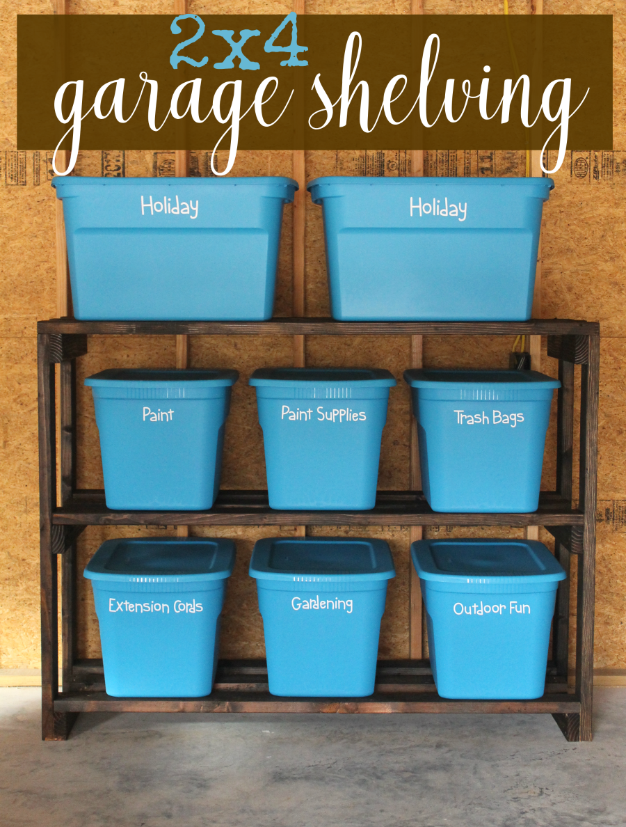 DIY Garage Storage Shelves Pin