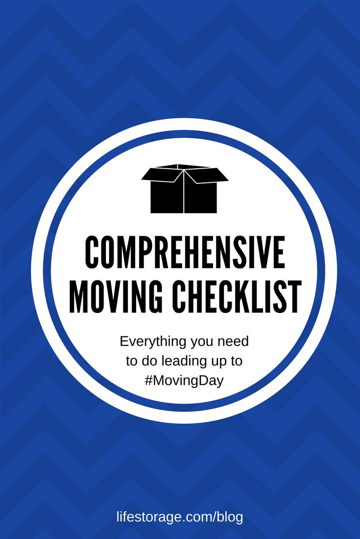 Comprehensive moving checklist