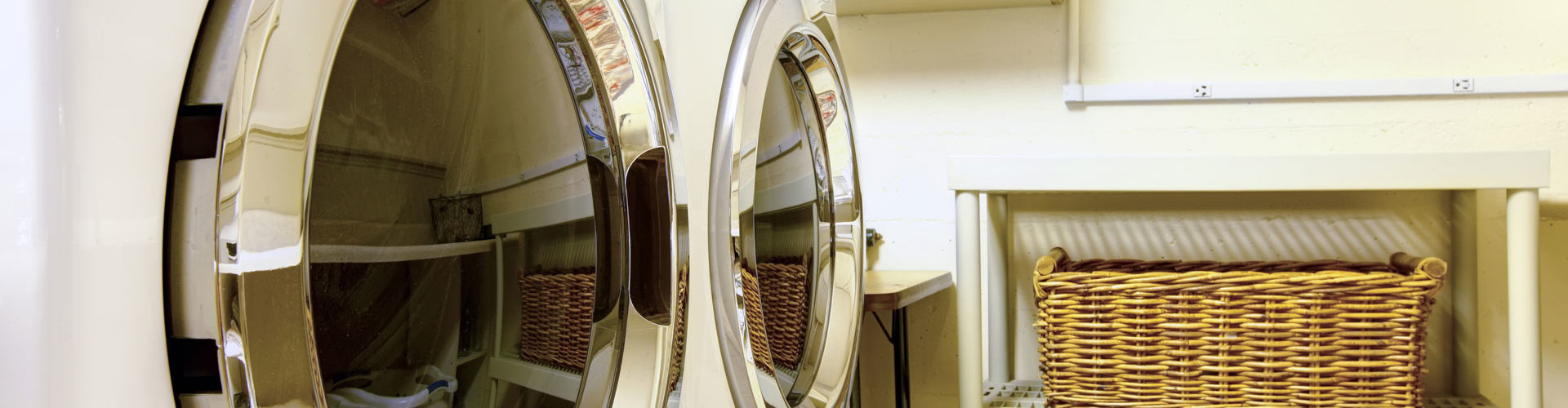 How to Organize Laundry Room - baskets and wall racks
